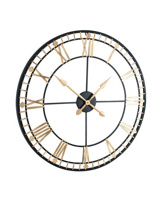 Veronica Distressed Bronze & Gold Metal Round Wall Clock