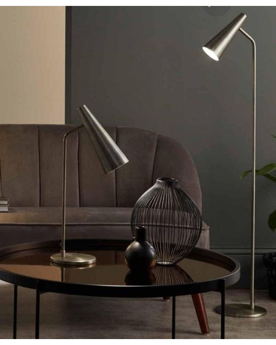 Vintage Silver Conical Task Table Lamp