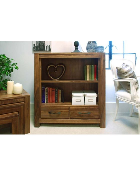 Walnut Low Bookcase