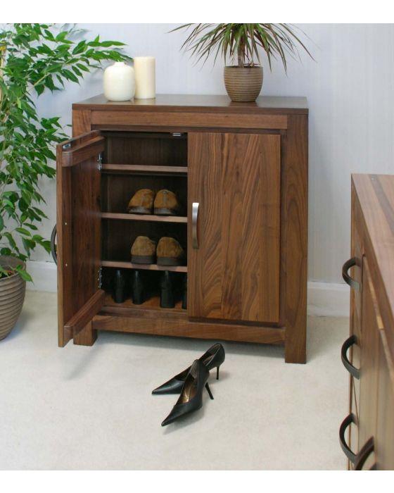 Walnut Shoe Cupboard