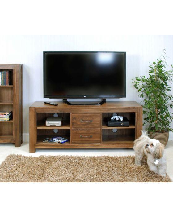 Walnut Widescreen Television Cabinet