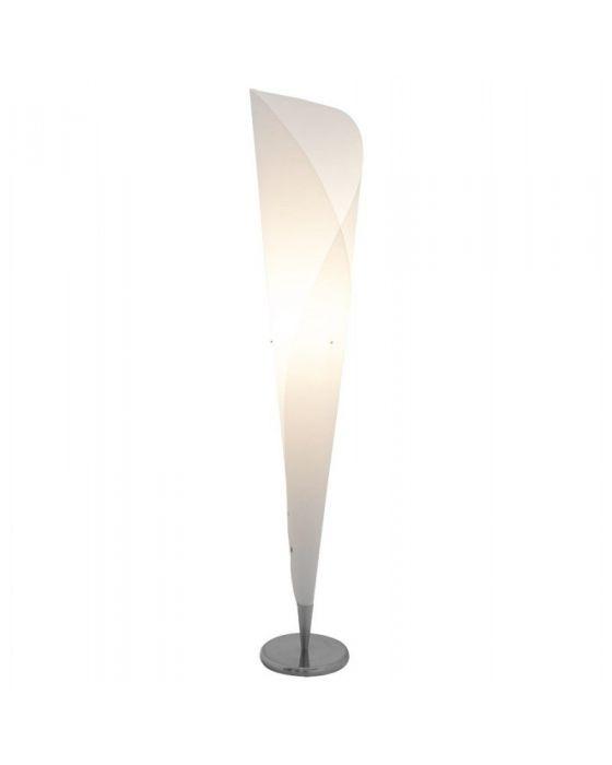 White Tube/Cylinder Floor Lamp