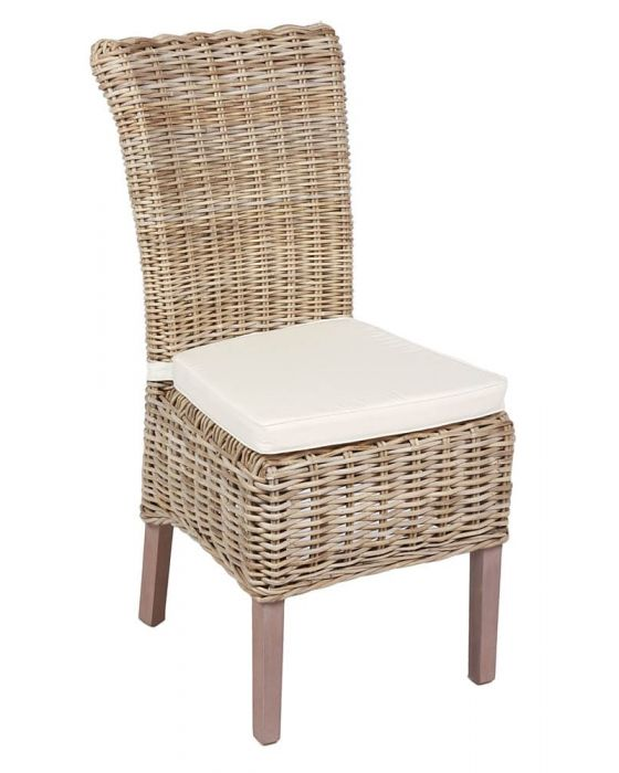 William Wicker Chair Including Cushion - Box of 2