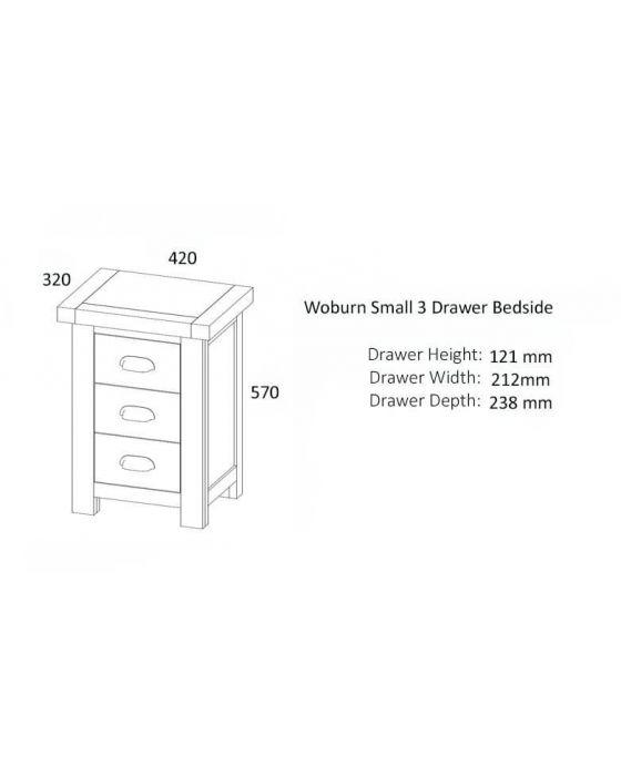Woburn Oak Bedside Cabinet