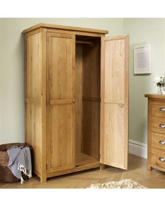 Woburn Oak Double Wardrobe