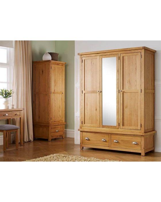 Woburn Oak Triple Wardrobe