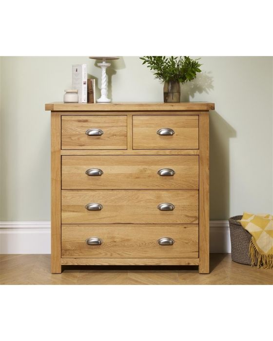Woburn Oak 5 Drawer Chest