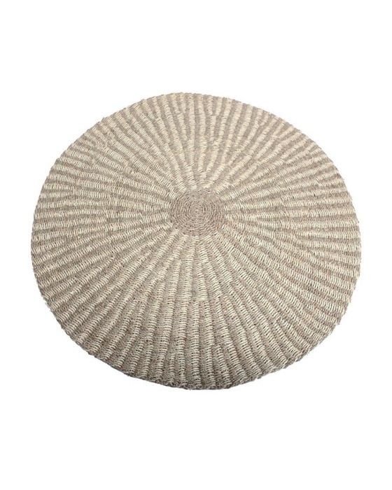 Woven Seagrass and Palm Leaf Round Rug