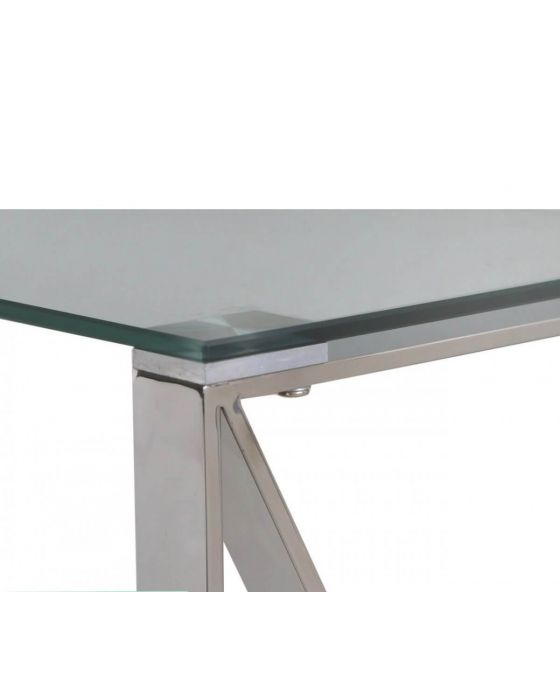 Zena Stainless Steel Side Table