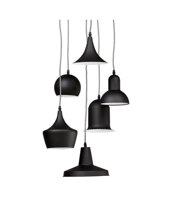 Pengo Six Black Ceiling Lamps