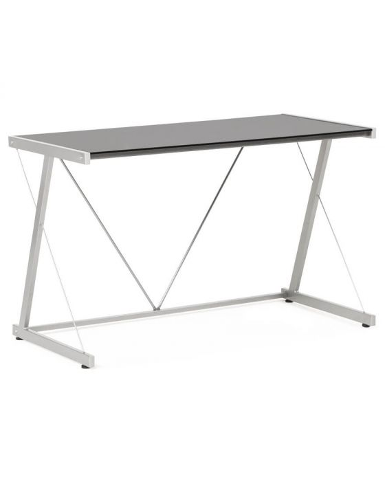 Huxely Metal And Glass Office Desk