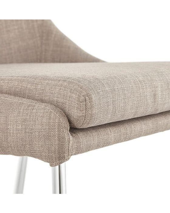 Bo Woven Fabric Beige Chair
