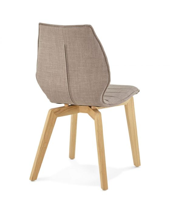 Bora Solid Ash Fabric Grey Chair