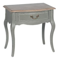 Annecy French Grey 1 Drawer Side Table