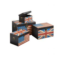 Anglo American Design Set Of 4 Storage Trunks