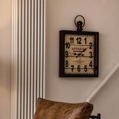 Bloomsbury Cream and Rustic Iron Clock