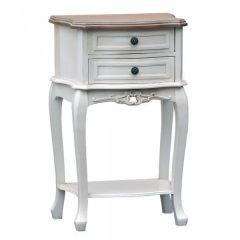 Appleby Shabby White Bedside Table