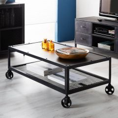 Black Metal Industrial Coffee Table