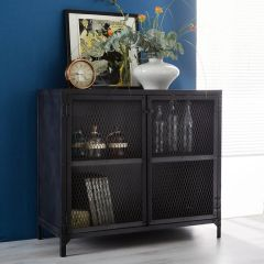 Black Metal Industrial Sideboard
