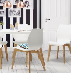 Bora Solid Ash White Chair