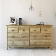 Borg Oak Effect Scandi 8 Drawer Chest