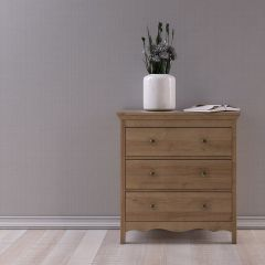 Borg Oak Effect Scandi 3 Drawer Chest