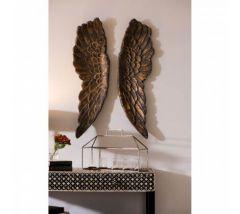 Bronze Large Angel Wings Wall Art