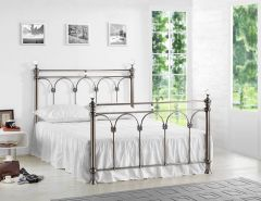 Zhabei Brushed Nickel Double & King Bed Frames