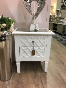 Costa White Bedside Cabinet