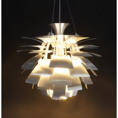Chrome Layered Floral Retro Ceiling Light