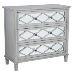 Clara Grey Mirrored Chest of Drawers