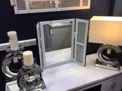 White Cleopatra Vanity Mirror