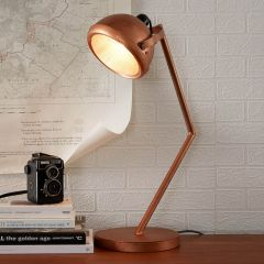 Copper Rustic Large Table Lamp