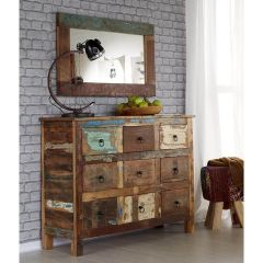 Coastal Beach House 9 Drawer Chest