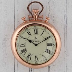 Copper Stopwatch Wall Clock