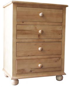 Cottage Pine 4 Drawer Chest