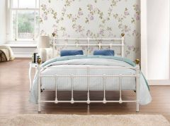 Titan Black Or Cream Metal Single & Double Bed Frames