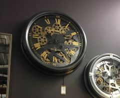 Dark Grey & Gold Chambers Wall Clock