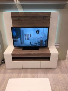 Designer Style White TV Unit