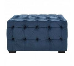 Ella Blue Tufted Footstool
