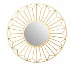 Fara Petal Champagne Wall Mirror