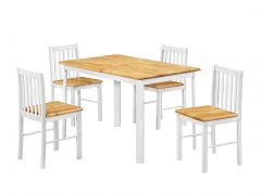 Farmland White and Oak Table Set