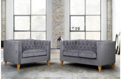 Florence Snuggle Velvet Chair & Sofa