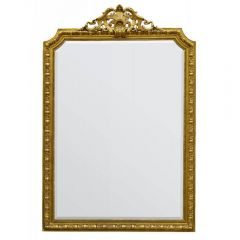 French Rococo Decorative Gold Rectangular Wall Mirror