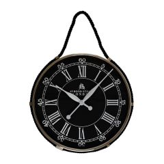 Hampshire Black Hanging Wall Clock