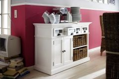 Halifax Kitchen Sideboard With 2 Rattan Baskets