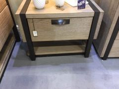 Hudson Natural Wood Bedside Cabinet