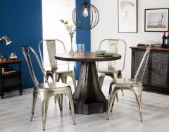 Industrial Eco Friendly Round Dining Table