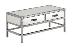Industrial Rivet Mirrored Coffee Table