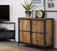 Industrial Solid Wood Small Sideboard